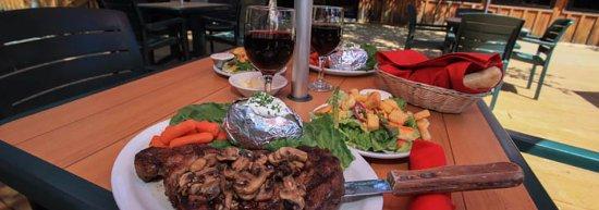 Story, Wyoming: Steak, Hamburgers, Chicken.  Great food!