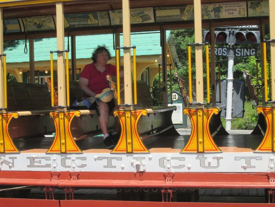 Kennebunkport, Μέιν: That is me on the trolley.