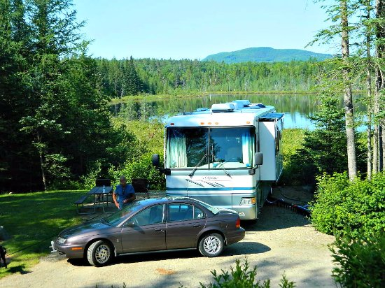 "Lancaster, NH: Our site, plenty of room for a 38"" Rv and toad."