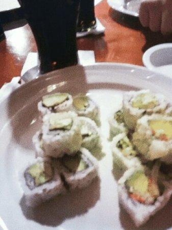 Sancho's Sushi Bar: Sushi de vegetales y aguacate.