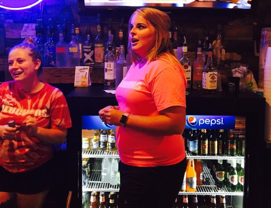 """Jeffersonville, IN : Lauren and Bri make the atmosphere at Clucker's electric. Lauren told my husband and I,""""love it,"""