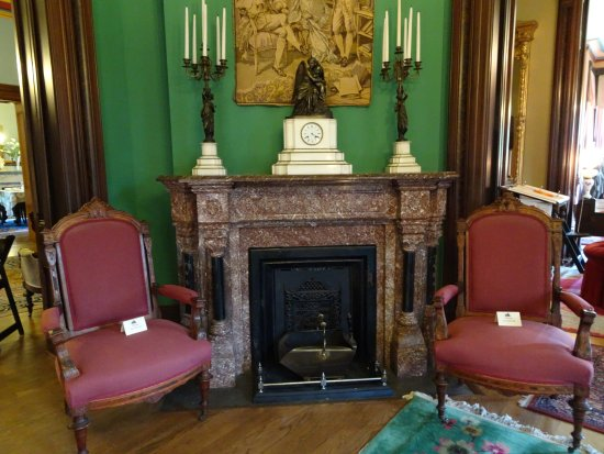 Independence, MO: fireplace in Men's parlor