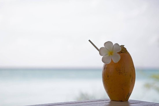 Four Seasons Resort Maldives at Landaa Giraavaru: 酒店对许多小细节照顾到无微不至。 全天供应的开水,流动车接送,骑单车在岛上走动(甚至会细心留意椅垫的高度,单车的大小)。花钱,值得。