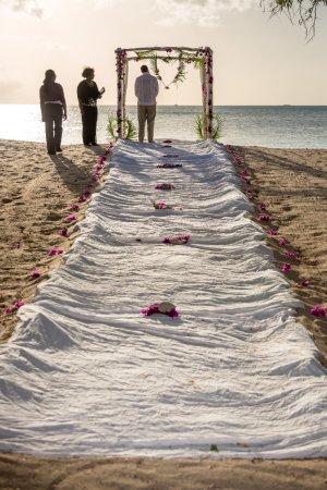 Hermitage Bay : wedding on the beach