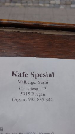 Kafe spesial: Menu front