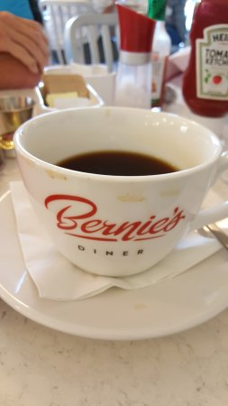 Bernie's Diner: Has to be the largest mug of coffee I have ever been served...awesome!
