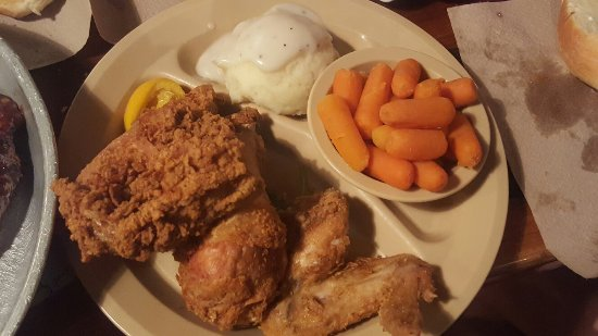 Ozark, MO: bbq pork steak, rooster cut chicken fried steak, fried chicken