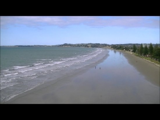 View facing South, along Orewa Beach