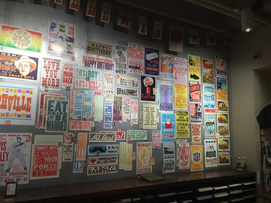 Hatch Show Print: Examples of many colorful posters produced here