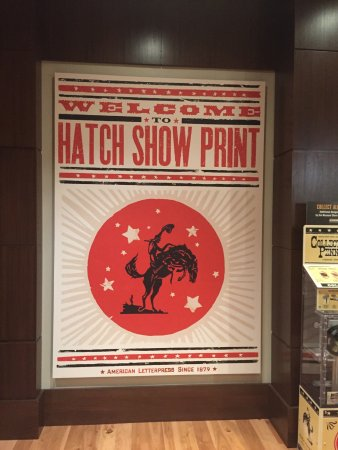 Hatch Show Print: Sign at front doolr