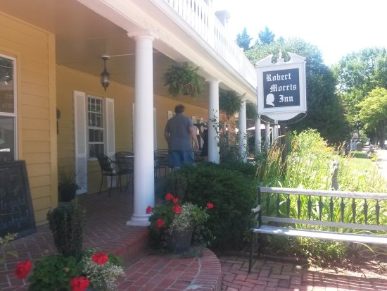 Oxford, MD: We ate breakfast on the front porch
