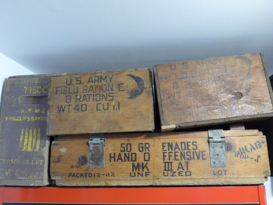 Liberators Museum - Normandy 1944 : Boxen und Kisten
