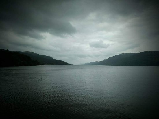 Loch Ness: A fortuitous shot, aided only by some darkening of the corners