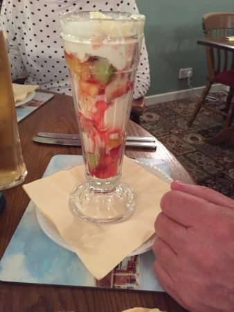 Dog & Crook: Knickerbocker glory minus the whipped cream my husband was too quick before I could take the pic