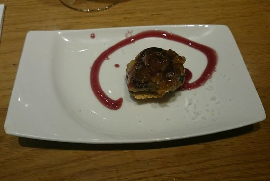 La Flauta : This was THE tapas of the evening. Some sort of sweet and salty duck liver naughtiness made to p
