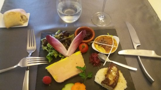 Le Coudray Montceaux, Frankrijk: Déclinaison de foies gras