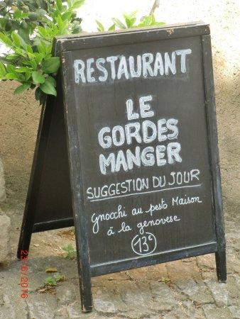 Le Gordes-Manger : empfangstafel