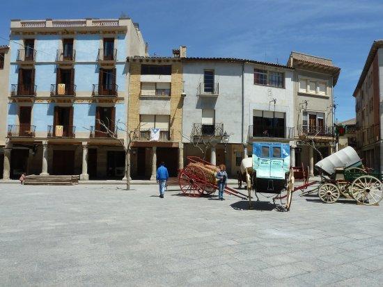 Vista parcial de la Plaza Mayor.