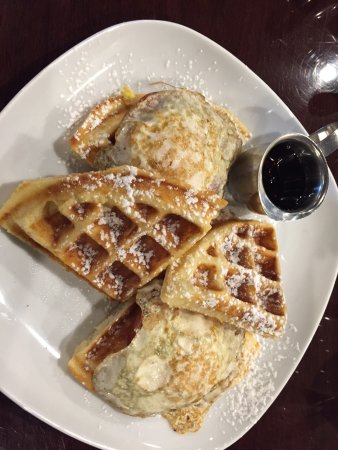 Marietta, GA: The breakfast waffle sandwich