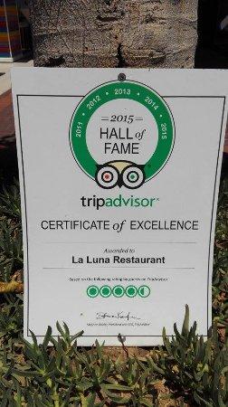 La Luna Restaurant: Pohvale