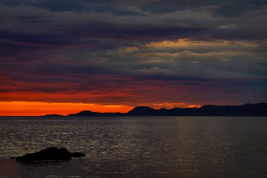 Buchlyvie, UK: Sunset over Sleat
