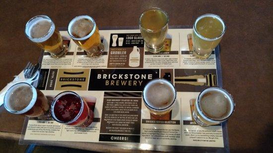 BrickStone Brewery: Flight of tasty brews...