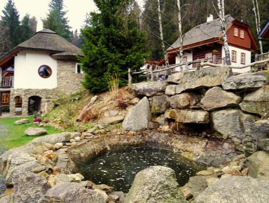 Snezne, Republik Ceko: View of the fairy-tale village