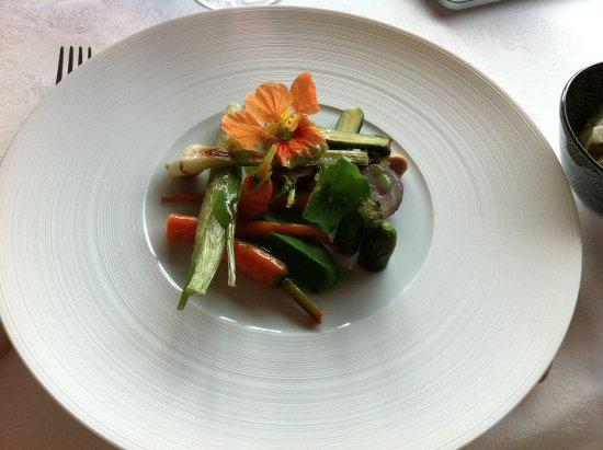 Saint-Nexans, فرنسا: Assiette de légumes