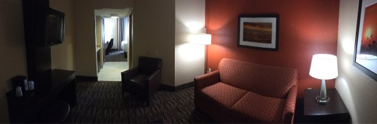 Holiday Inn Hotel & Suites La Crosse: King suite, first floor.