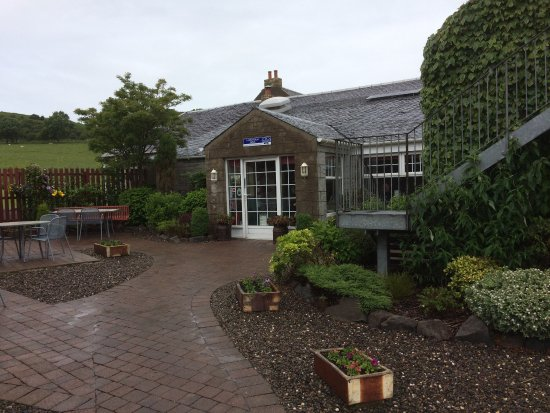 South Ayrshire, UK : Entrance to Langholm farm shop and tea room