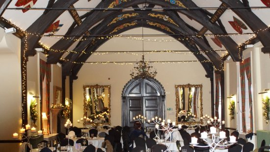 Winsford, UK: Dining hall with wonderful roof