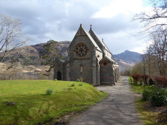 Glenfinnan Church perched on the hill