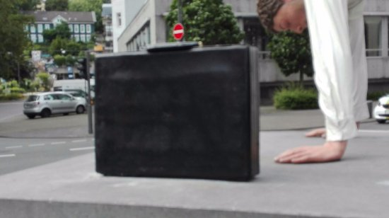 """Skulptur """"Ein neuer erfolgreicher Morgen"""""""