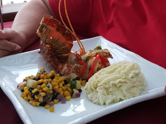 Caprice Bar.Grill: Lobster, corn, mashed potatoes