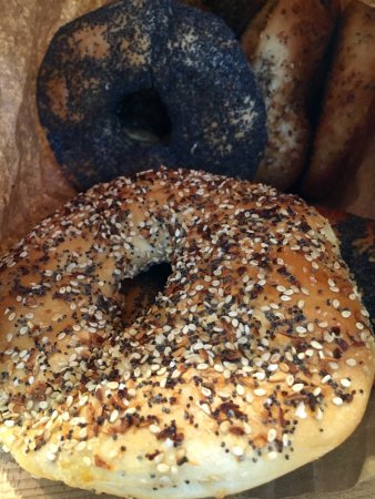 Miller Place Bagels. Fantastic bagels and flagels
