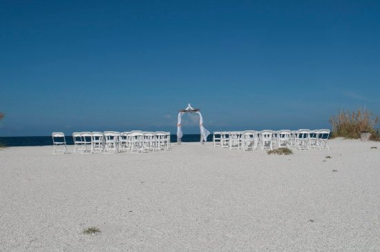 Boca Grande, FL: our wedding, at the right side of the point of gasparilla island state park