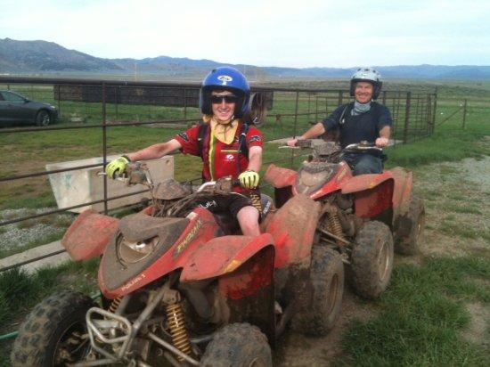 Graeagle, CA: We were muddy after the ATV ride!