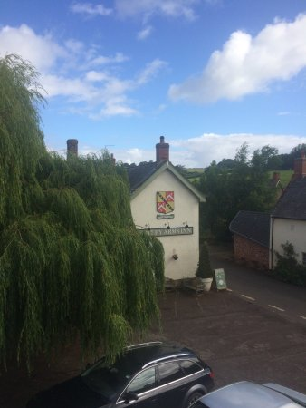 The Notley Arms Inn: View of the pub from room