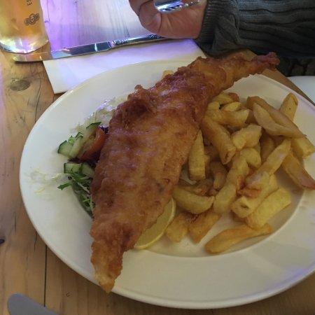 Fenwick, UK: Haddock and chips