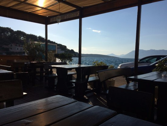 Povlja, Croacia: View from my table