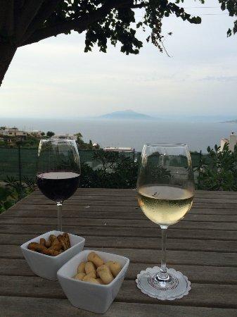 Capri Wine Hotel: Sunset from the breakfast area