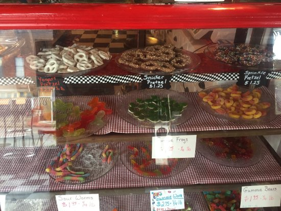 Talihina, OK: Check out the candy counter. We also have Jelly Bellys and Yard of Gum!!