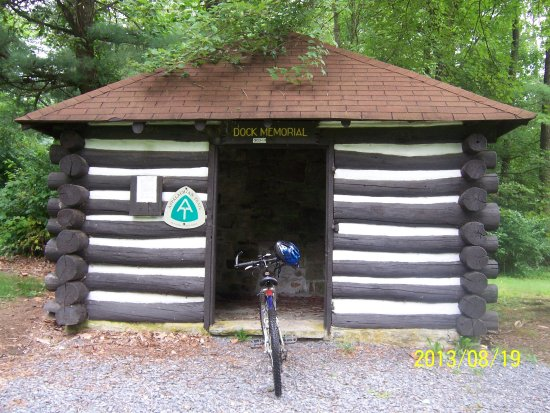 Fayetteville, Pensilvania: One of the shelters used by hikers on the Appalachian Trail