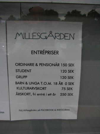 Millesgarden: цены на билеты