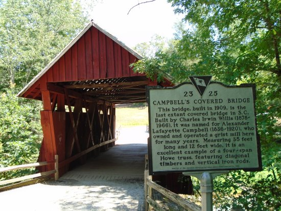Campbell's Covered Bridge: Sign