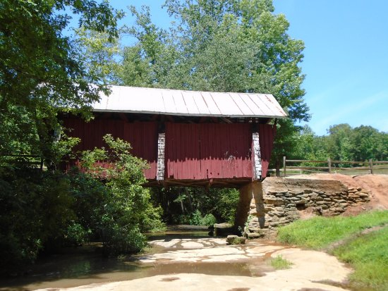 Campbell's Covered Bridge: view from creek