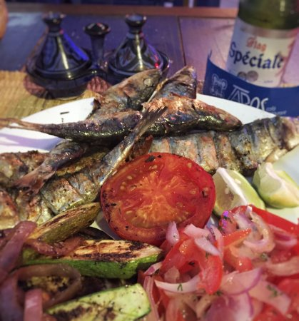 Seafood grilled to perfection