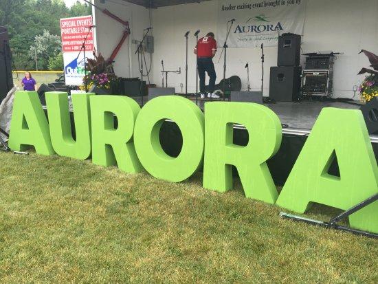 New Aurora sign