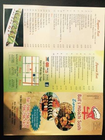 LaGrange, Georgien: Bull's Hibachi Sushi Express