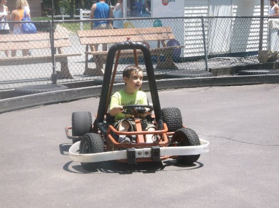 My 4yo son driving one of the youth go-karts  - Picture of